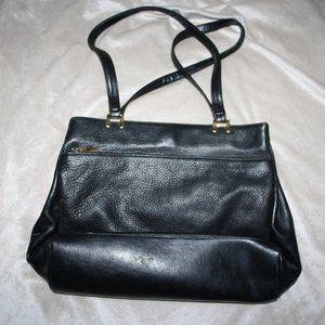 Black Leather Aurielle Handbag Purse